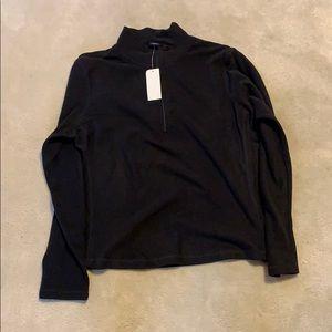 Gap 1/4 Zip Black Zip Fleece